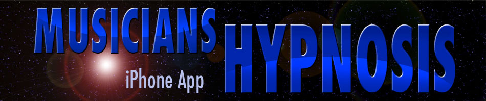 Musicians Hypnosis iPhone App banner